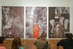 Gustav Klimt στο μουσείο Leopold στοκ εικόνα