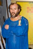 Gustav Klimt wax statue, Madame Tussaud`s Museum Vienna stock photos