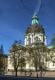Gustav Vasa Church, Stockholm. Gustav Vasa Church is relatively modern church in new baroque style was consecrated in 1906, stockholm, Sweden Royalty Free Stock Image