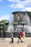 Gustav Vigeland sculptures in Frogner Park. Oslo, Norway Royalty Free Stock Photos