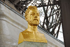 Gustave Eiffel Bust - Paris, France Royalty Free Stock Photos