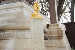 Gustave Eiffel Bust - Paris, France Royalty Free Stock Photo