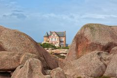 Gustave Eiffel House at Ploumanach, Brittany Royalty Free Stock Images