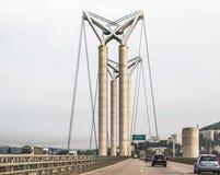 Gustave Flaubert Bridge, Rouen, Francia fotografia stock