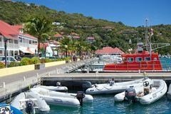 Gustavia口岸,圣Barths 免版税库存照片