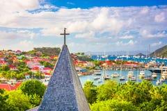 Gustavia,圣Barths教会 库存照片