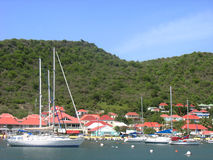 Gustavia Harbor at St Barths, French West Indies Stock Photo