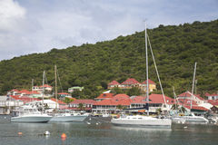 Gustavia Harbor at St Barts, French West Indies Stock Image