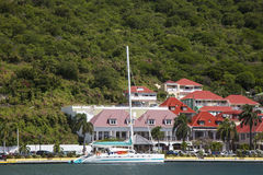 Gustavia Harbor at St Barts, French West Indies Stock Photography