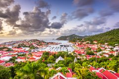 Gustavia, St. Barths in the Caribbean Royalty Free Stock Photography