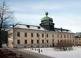 Gustavianum. A historical building from 1620 with an anatomical theater inside the dome shaped tower constructed 1662-63 in Uppsala. Sweden royalty free stock photography