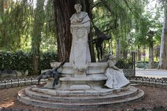 Gustavo Adolfo Bécquer en MarÃa Luisa Park de Sevilla Imagen de archivo