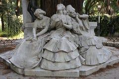 Gustavo Adolfo Bécquer in MarÃa Luisa Park von Sevilla Lizenzfreies Stockbild