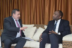 Gustavo Galon et Youri Latortue. Independent Expert on the situation of human rights in Haiti Stock Image