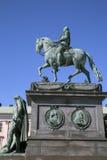 Gustavo II Adolf Statue; Estocolmo Imagen de archivo