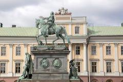 Gustavo II Adolf Statue por Archeveque; Estocolmo Imágenes de archivo libres de regalías