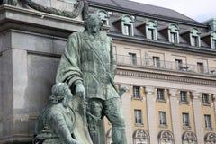 Gustavo II Adolf Statue por Archeveque, Estocolmo Foto de archivo libre de regalías