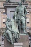 Gustavo II Adolf Statue por Archeveque, Estocolmo Foto de archivo