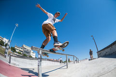 Gustavo Ribeiro during the DC Skate Challenge Royalty Free Stock Image