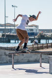 Gustavo Ribeiro during the DC Skate Challenge Royalty Free Stock Images
