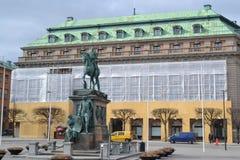 Gustavs Adolfs fyrkant i Stockholm. royaltyfri foto