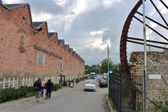 Gustavsberg porslinfabrik royaltyfria foton