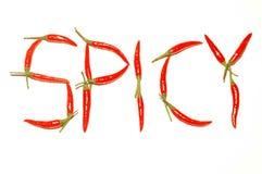 Gusto dei peperoncini rossi Immagini Stock Libere da Diritti