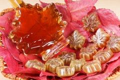 Gusto del jarabe de arce Imagen de archivo libre de regalías
