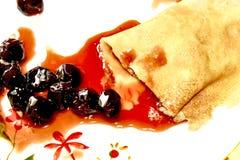 Gusto delizioso e buon crêpe di sapore Immagine Stock