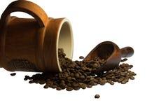 Gusto insaziabile di caffè da iniziare il giorno Immagine Stock