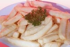 Gusto reale dei pomodori fritti alla prima colazione fotografia stock libera da diritti