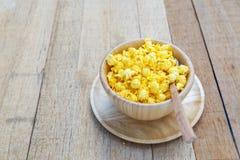 Gusto salato del formaggio del popcorn fotografia stock