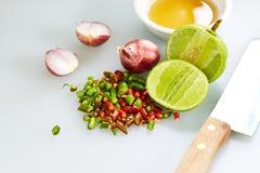 Gusto tailandés de la salsa de pescados tres imagenes de archivo