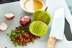 Gusto tailandés de la salsa de pescados tres fotografía de archivo libre de regalías