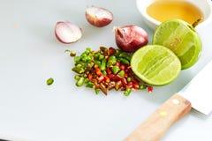 Gusto tailandese della salsa di pesce tre fotografia stock libera da diritti