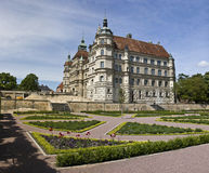 Gustrow Castle in Germany. Renaissance-era palatial schloss in Gustrow. Mecklenburg-Western Pomerania. Germany Royalty Free Stock Photos