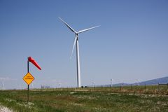 Gusty wind and turbines. Stock Images