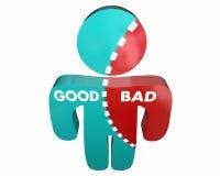 Gut gegen schlechten Person Percent Character Integrity Lizenzfreies Stockbild