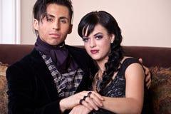 Gut gekleidete Paare Stockfoto