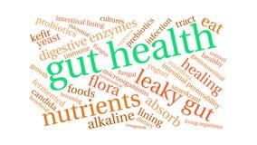 Gut health animated word cloud