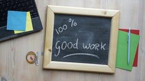 100% gute Arbeit Lizenzfreies Stockbild