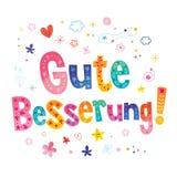 Gute Besserung - obtenha o poço logo no alemão Foto de Stock