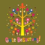 Gute Besserung - obtenha o poço logo no alemão Imagem de Stock Royalty Free