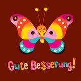 Gute Besserung - obtenha o poço logo no alemão - cartão ilustração do vetor