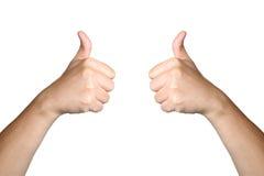 Gute beste Ikone des Handzeichenlage-Griffs lokalisiert Stockbilder