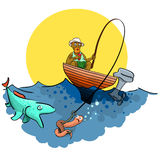Gute Fischerei Stockfotografie