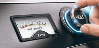 Gute Investition, Risiko-Belohnungs-Verhältnis lizenzfreie stockbilder