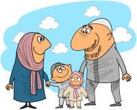 Gute moslemische Familie Lizenzfreie Stockfotos