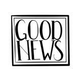 Gute Nachrichten vektor abbildung
