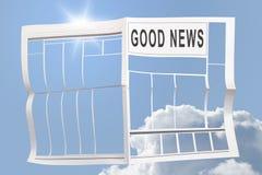Gute Nachrichten Stockbild
